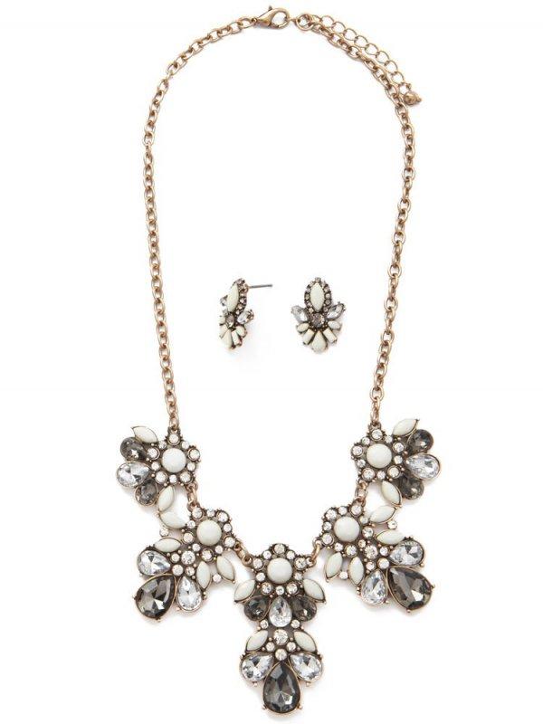 Gold/Grey Statement Jewelry Set