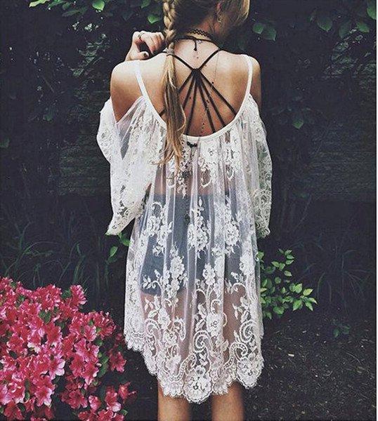 Beautiful Floral Lace Dress