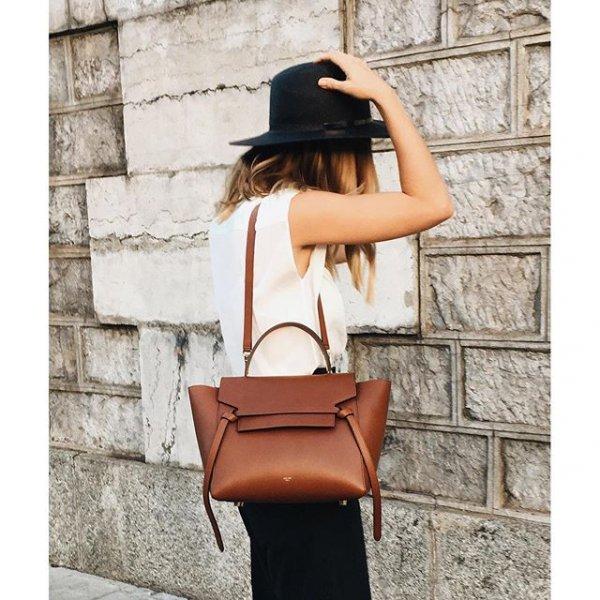 white, clothing, brown, handbag, spring,