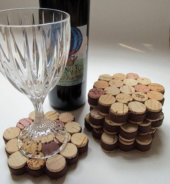 Wine Cork Drink Coaster