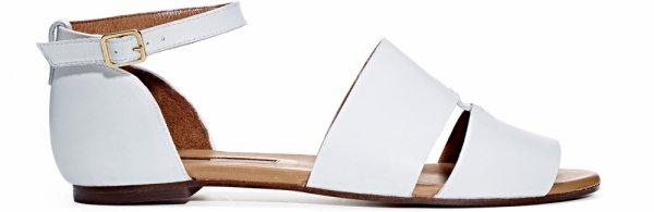 TJMAXX White Leather Sandals