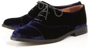Topshop Karyss Velvet Lace up Shoes