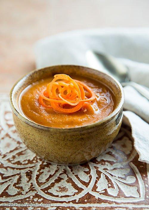 Gingery Tomato Lentil Soup
