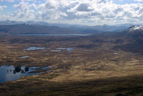 highland, loch, fell, wilderness, sky,