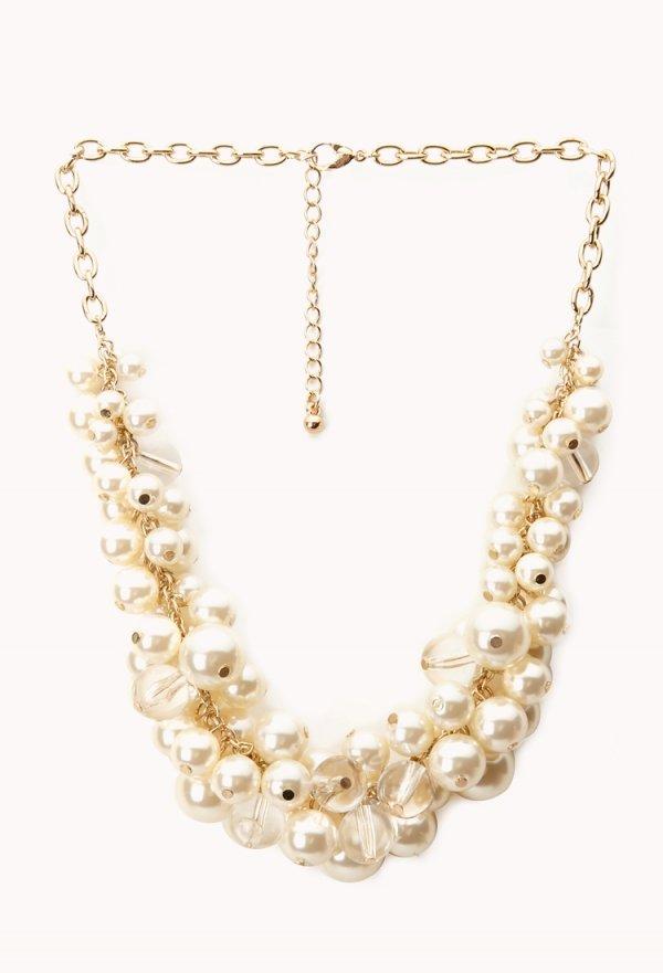 Opulent Faux Pearl Necklace