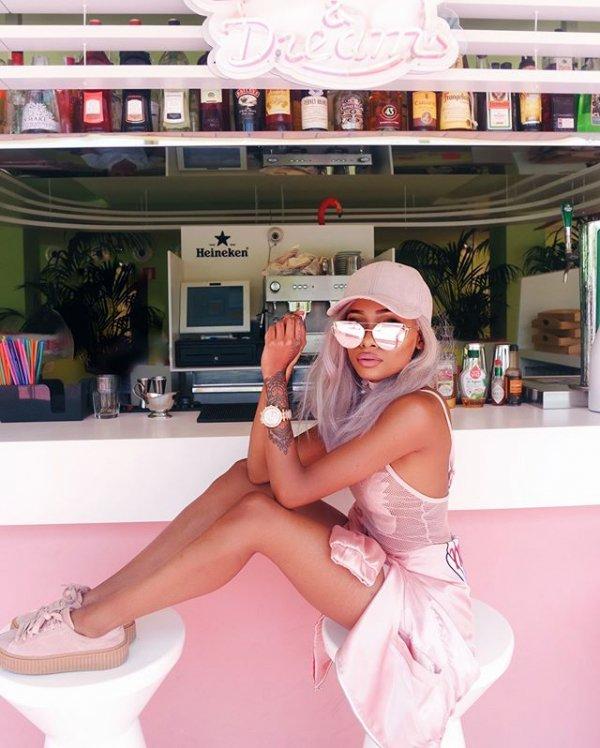 pink, woman, Heineken,