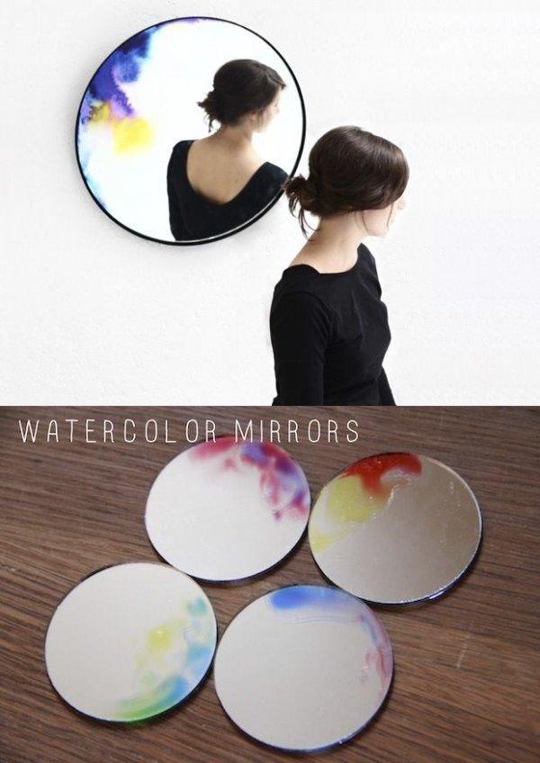 Watercolor Mirror
