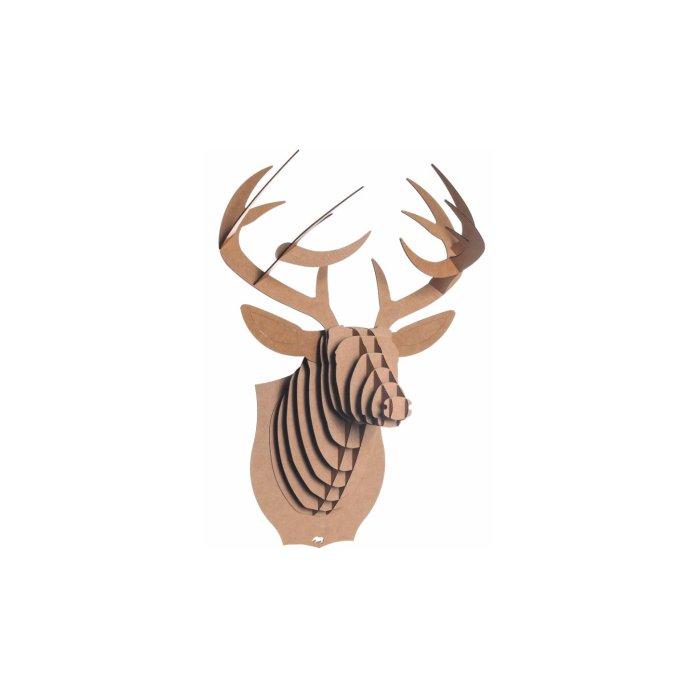 Bucky the Deer Recycled Cardboard Sculpture