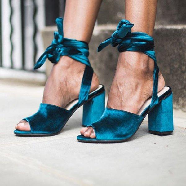 footwear, high heeled footwear, blue, green, shoe,