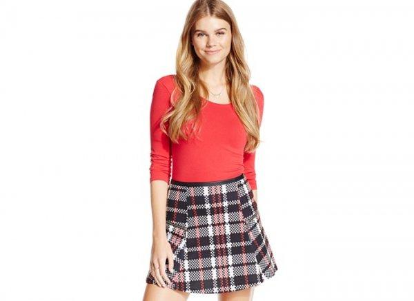 Stoosh Juniors' Plaid Skater Skirt