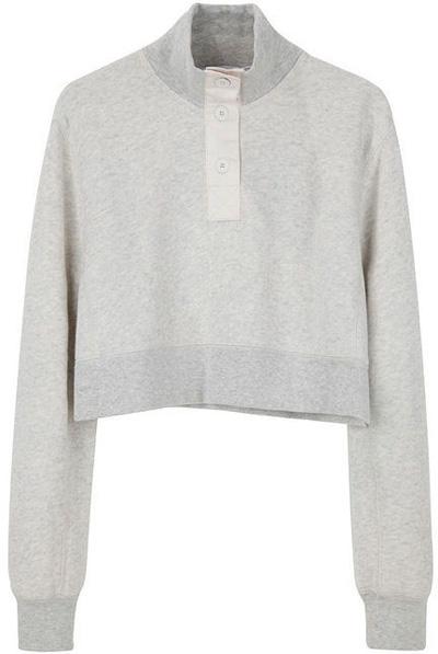 T by Alexander Wang Cropped Sweat Shirt