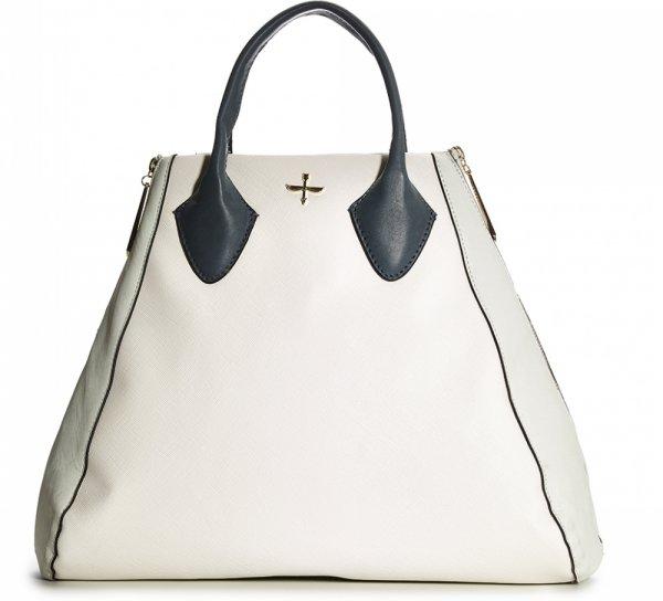 MARSHALLS White Handbag with Blue Handles