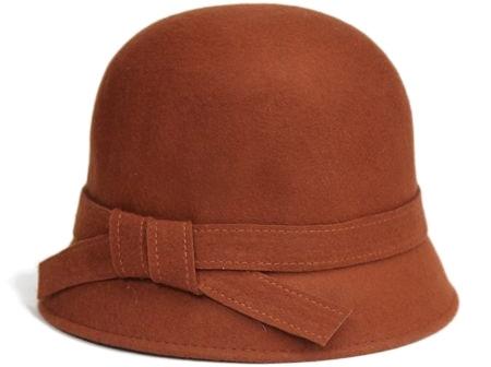 Train Station Wool Cloche Hat
