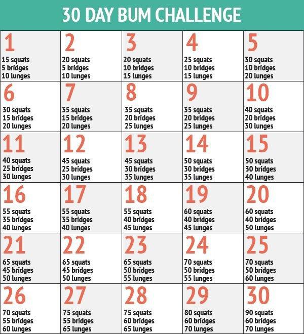 30 Day Bum Challenge