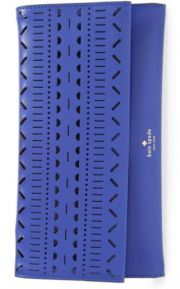 Blue Geometric Clutch