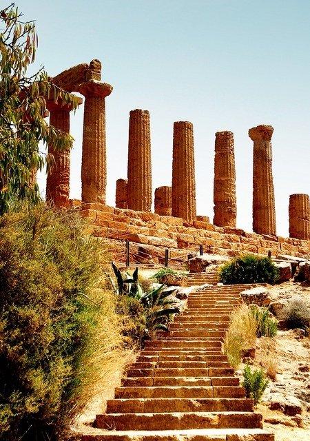 The Temple of Hera and Juno Lacinia, Agrigento, Sicily