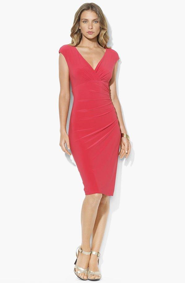 Faux Wrap Jersey Dress -by Ralph Lauren