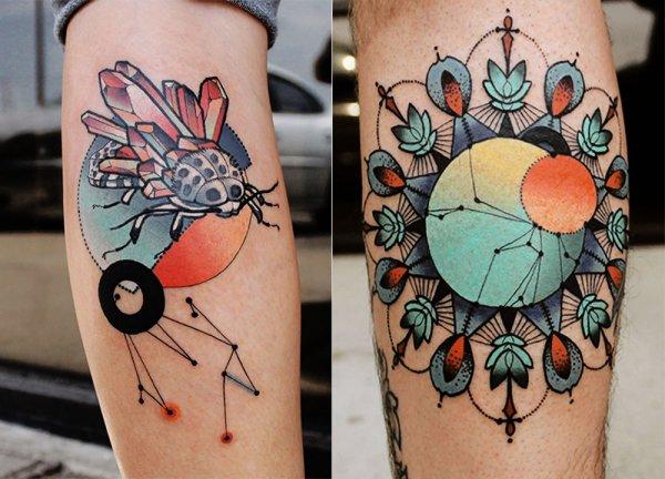 color,tattoo,arm,leg,pattern,