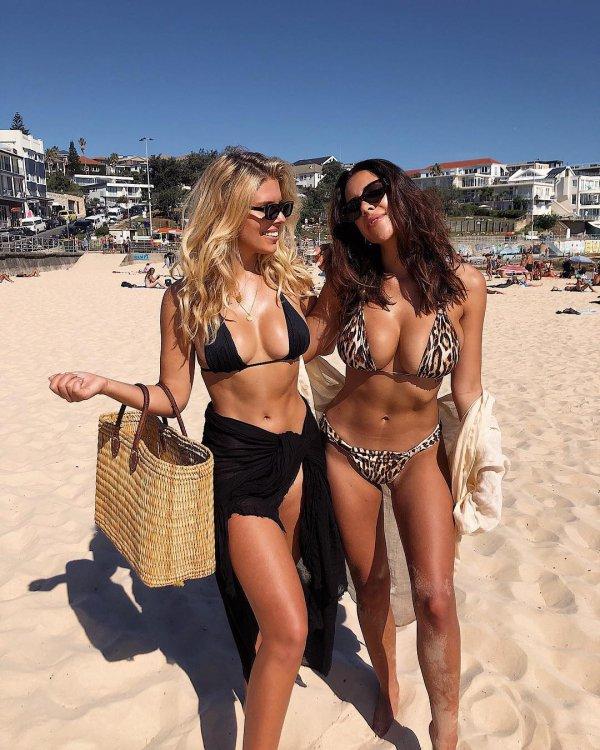 People on beach, Clothing, Swimwear, Undergarment, Vacation,