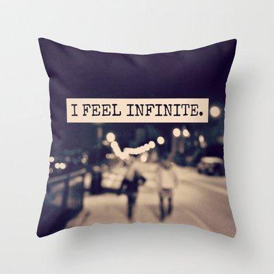 I Feel Infinite Throw Pillow