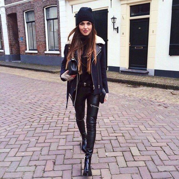 clothing, footwear, road, jacket, headgear,