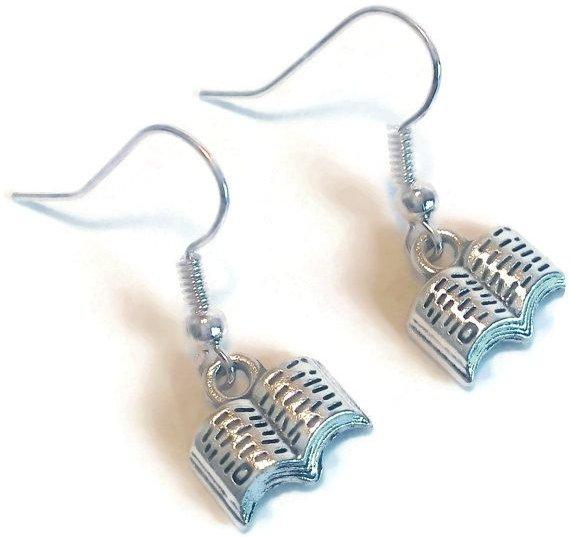 Open Book Earrings