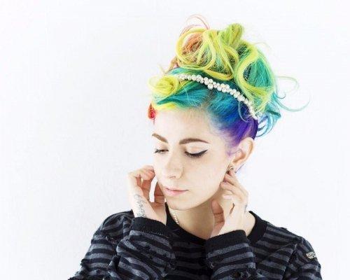 Miranda's Colorful Updo