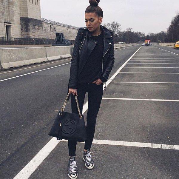 black, clothing, footwear, road, asphalt,