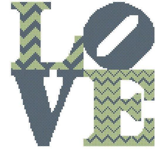 Chevron Love Square