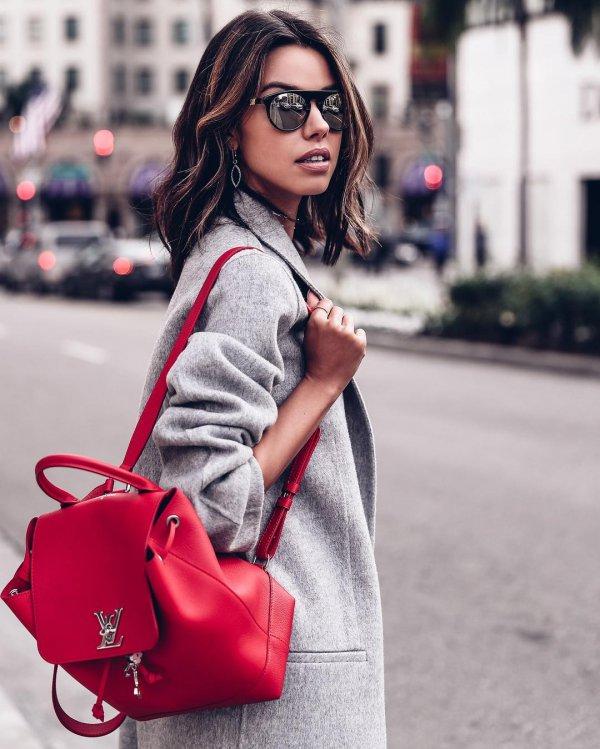 red, clothing, handbag, lady, fashion,