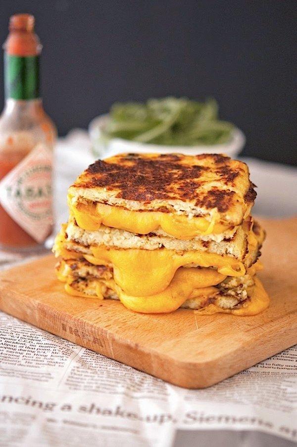 Cauliflower Crust Grilled Cheese