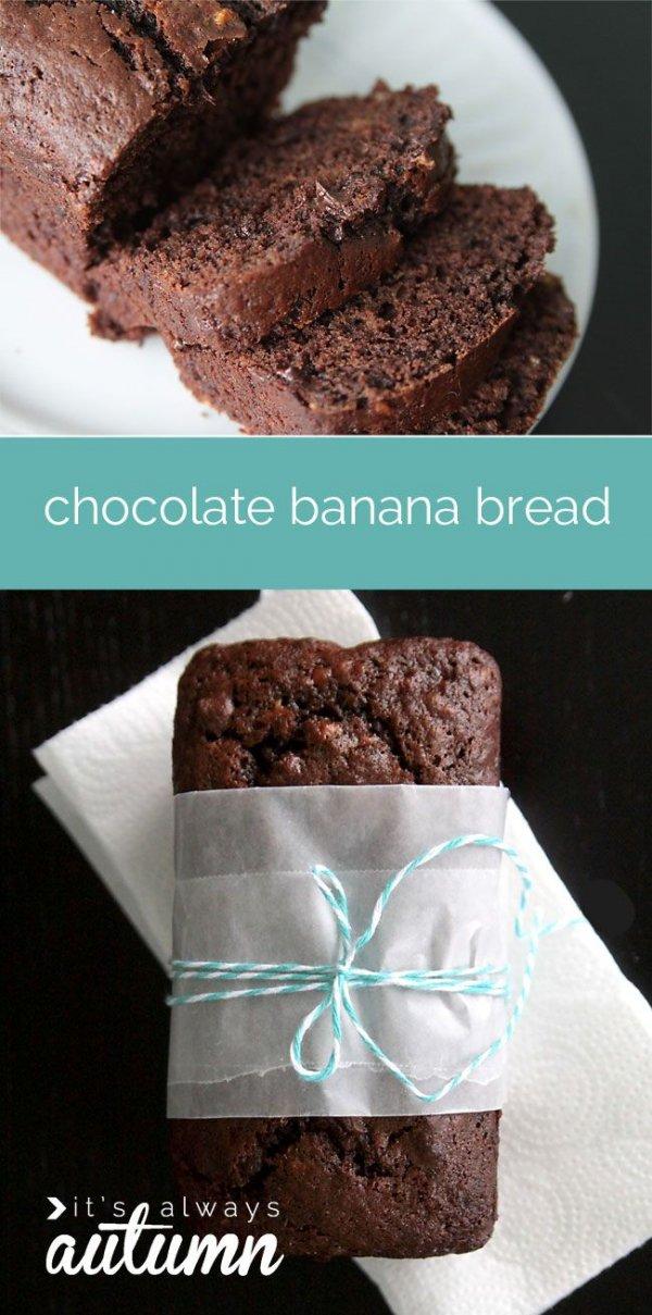 Decadent Double Chocolate Banana Bread
