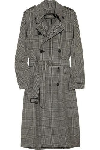 Ralph Lauren Black Label Houndstooth Trench Coat