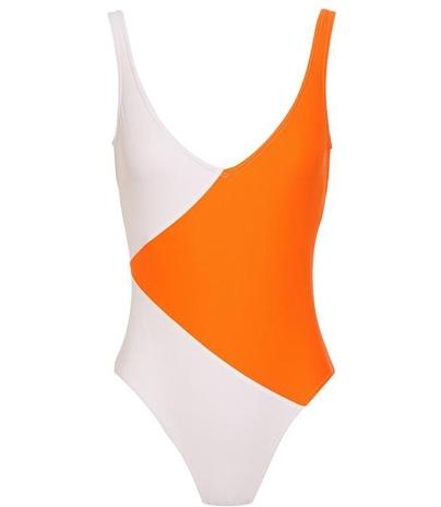 Tomas Maier Diagonal Colour Block Swimsuit