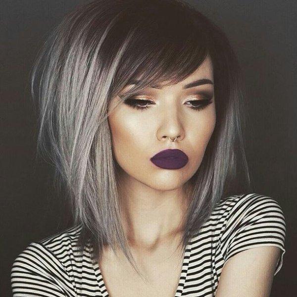 Purple Lips, Shiny Eyes