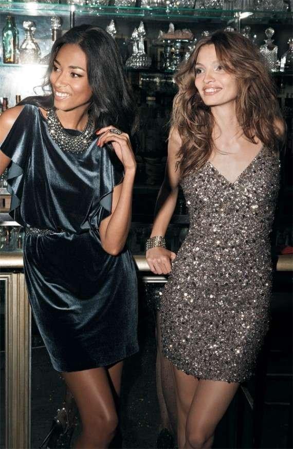 dress,supermodel,brown hair,little black dress,thigh,