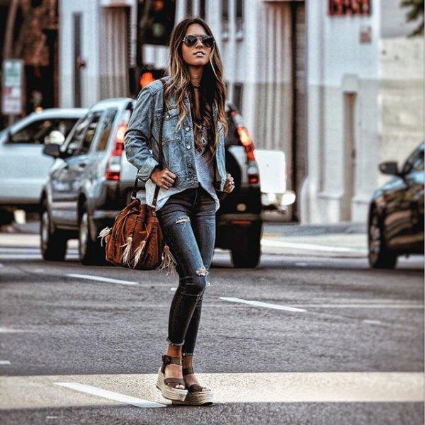 road, clothing, footwear, street, denim,
