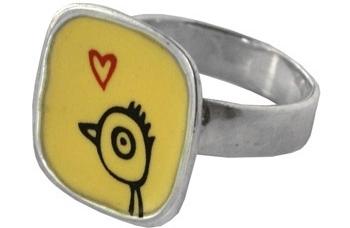 Birdie Love Ring