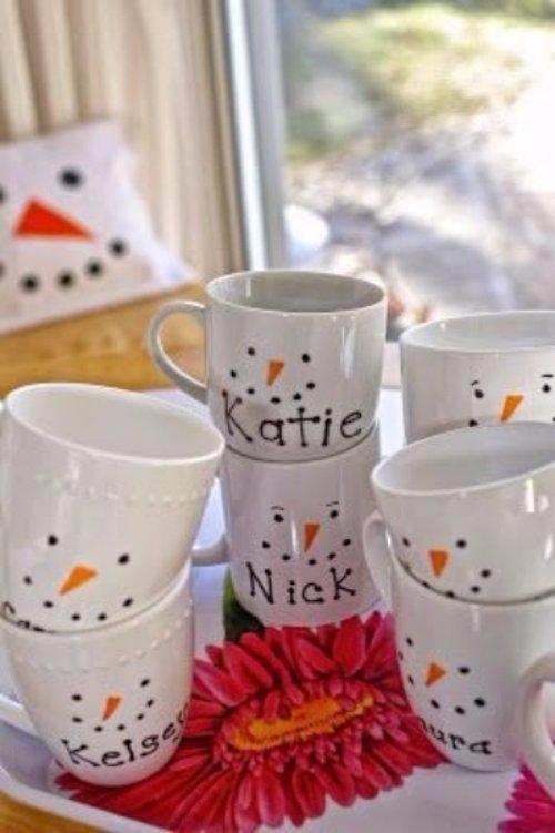Snowman Sharpie Mugs