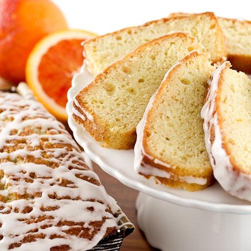 Boozy Blood Orange Pound Cake