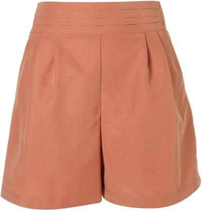 Topshop Peach Pleated Waistband Shorts