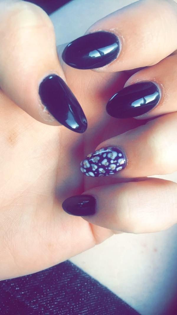nail, color, finger, blue, purple,
