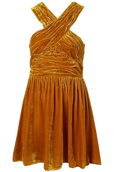 Topshop Velvet Halter Dress
