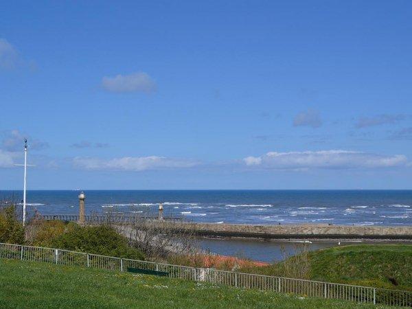 sky, sea, horizon, coast, promontory,