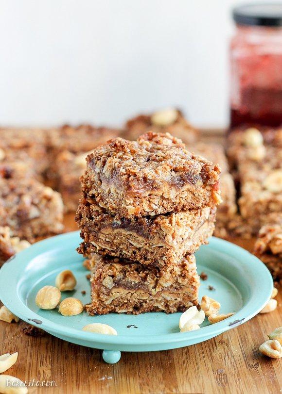 Peanut Butter & Jelly Crumb Bars