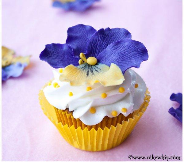Pansy Cupcake