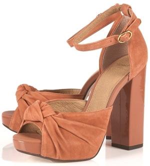 Topshop Lark Dusky Pink Knotted Sandal