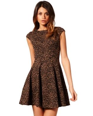 ASOS Animal Print Skater Dress