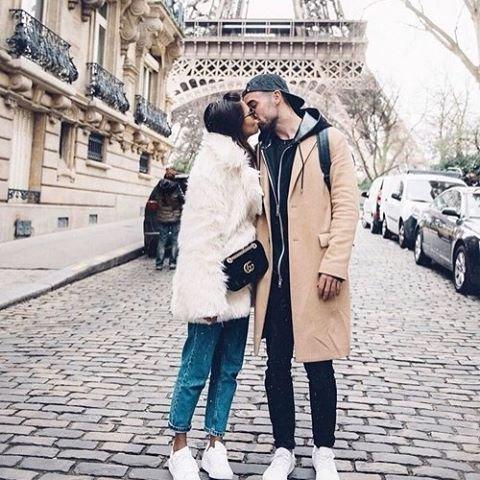 Eiffel Tower, clothing, road, footwear, winter,