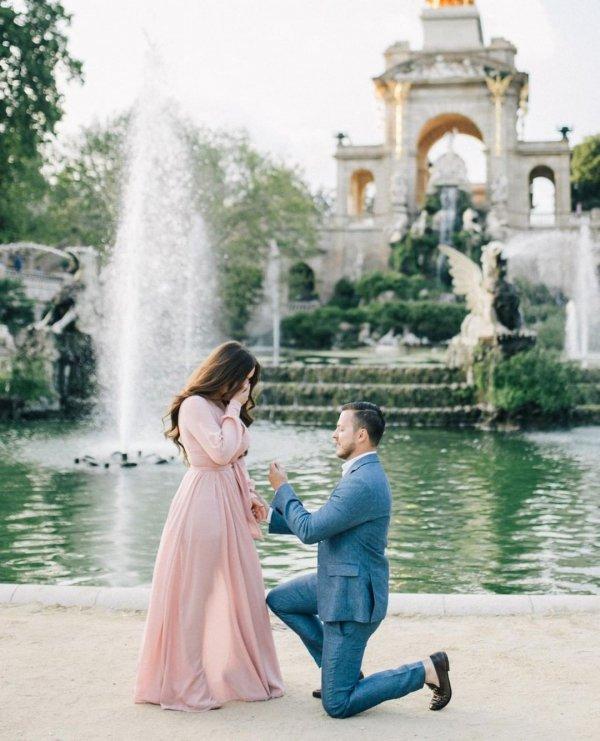 Photograph, Aqua, Gown, Pink, Dress,